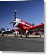 Thompson Trophy Goodyear F2g Corsair Reunion Falcon Field Arizona December 27 2011 Metal Print by Brian Lockett