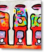 Three Candy Machines Metal Print