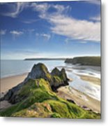 Three Cliffs Bay 5 Metal Print