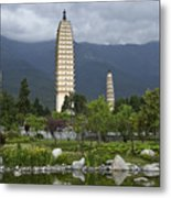 Three Pagodas Of Dali Metal Print