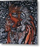 Tiger Bathing Metal Print
