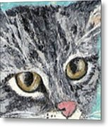 Tiger Cat Metal Print