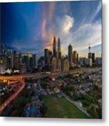 Timeslice Of Day To Night Of Kuala Lumpur City Metal Print