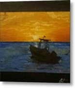 Tobago Sunset Metal Print