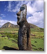 Tongariki Moai On Easter Island Metal Print