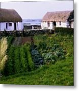Traditional Cottages, Co Galway, Ireland Metal Print