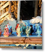 traditional tunis ceramics, Djerba, 07 Nov 2014 Metal Print