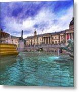 Trafalgar Square Fountain London 5 Art B Metal Print