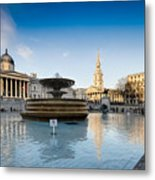 Trafalgar Square National Gallery Metal Print