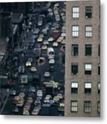 Traffic In New York City. View Metal Print by Everett