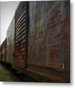 Trains 12 Vign Metal Print