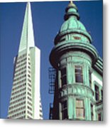 Dueling Architecture In San Francisco Metal Print