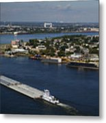 Transportation - Shipping On The Mississippi River Metal Print