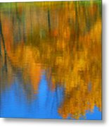 Tree Reflection Painting Metal Print