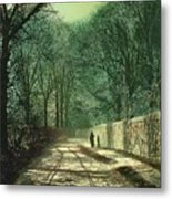 Tree Shadows In The Park Wall Metal Print