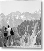 Trekking Together Metal Print