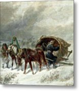 Troika In A Blizzard Metal Print