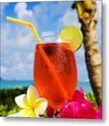 Tropical Cocktail Metal Print