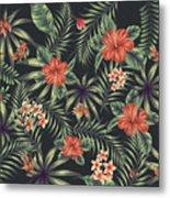 Tropical Leaf Pattern 5 Metal Print