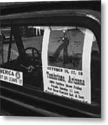 Truck With Right Wing Decal And Helldorado Days Poster Tombstone Arizona 1970 Metal Print