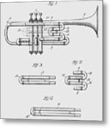 Trumpet Patent From 1919 Metal Print