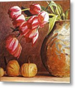 Tulips And Squash Metal Print by David Lloyd Glover