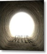 Tunnel Text And Shadow Concept Metal Print