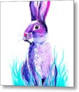 Turquoise And The Hare  Metal Print