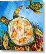 Turtle Tank Metal Print