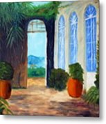Tuscany Court Yard Metal Print