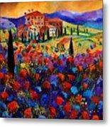 Tuscany Poppies  Metal Print