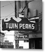 1 Twin Peaks Bar In San Francisco Metal Print by Wingsdomain Art and Photography