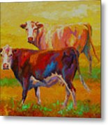Two Cows Metal Print