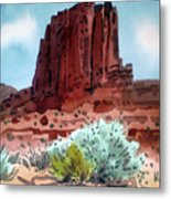 Two Elephants Butte Metal Print