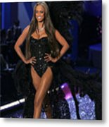 Tyra Banks Inside For The Victorias Metal Print by Everett