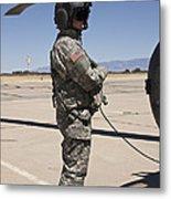 Uh-60 Black Hawk Crew Chief Metal Print