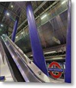 Underground Escalator Metal Print