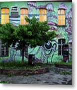 Underwater Graffiti On Studio At Metelkova City Autonomous Cultu Metal Print