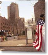 Urban Flag Man Metal Print