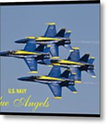 Us Navy Blue Angels Poster Metal Print