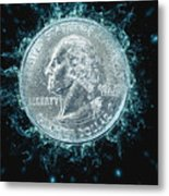 Us One Quarter Dollar Coin 25 Cents Metal Print