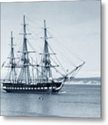 Uss Constitution Old Ironsides In Monterey Bay Oct. 1933 Metal Print