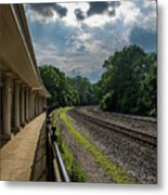 Valley Forge Train Station  Metal Print