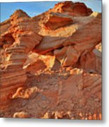 Valley Of Fire Arch At Sunrise Metal Print