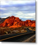 Valley Of Fire Metal Print