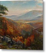 Valley Of The Catawissa In Autumn Metal Print
