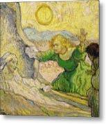 Van Gogh Raising Of Lazarus After Rembrandt Metal Print