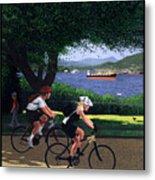 Vancouver Bike Ride Poster Metal Print