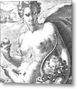 Venus And Cupid Metal Print