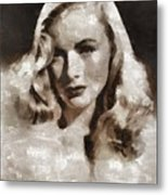 Veronica Lake Vintage Hollywood Actress Metal Print